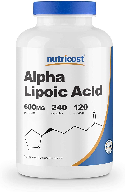 Nutricost Alpha Lipoic Acid 300 mg Per Capsule 240 Capsules