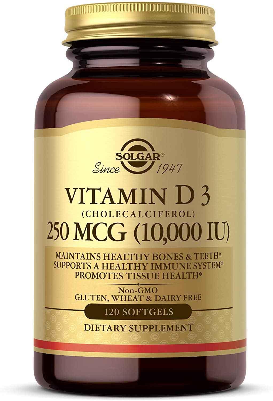 Solgar Vitamin D3 (Cholecalciferol) 250 MCG (10,000 IU) 120 Softgels